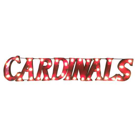 CARDINALSWDLGT: Louisville Cardinals Metal Décor w/Lights
